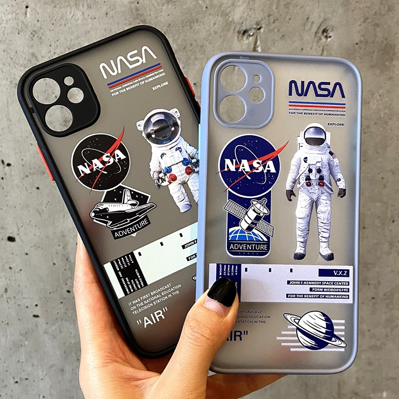 Astronaut Nasa Logo Case iPhone 11 Pro Max Full Coverage Camera Protective Cover iPhone X XS Max XR 7 8 Plus