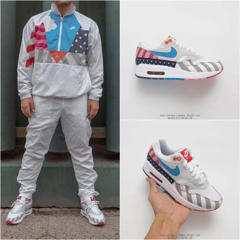 b9429c62b8 Parra x Nike Air Max 1 Super Limited Edition Running Shoes | Shopee Malaysia
