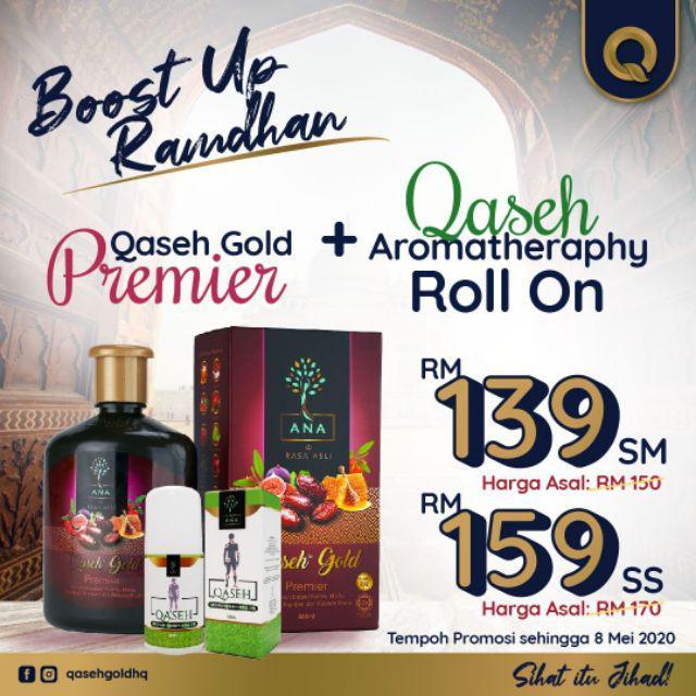 QASEH GOLD PREMIER 1 FREE ROLL ON WORTH RM35