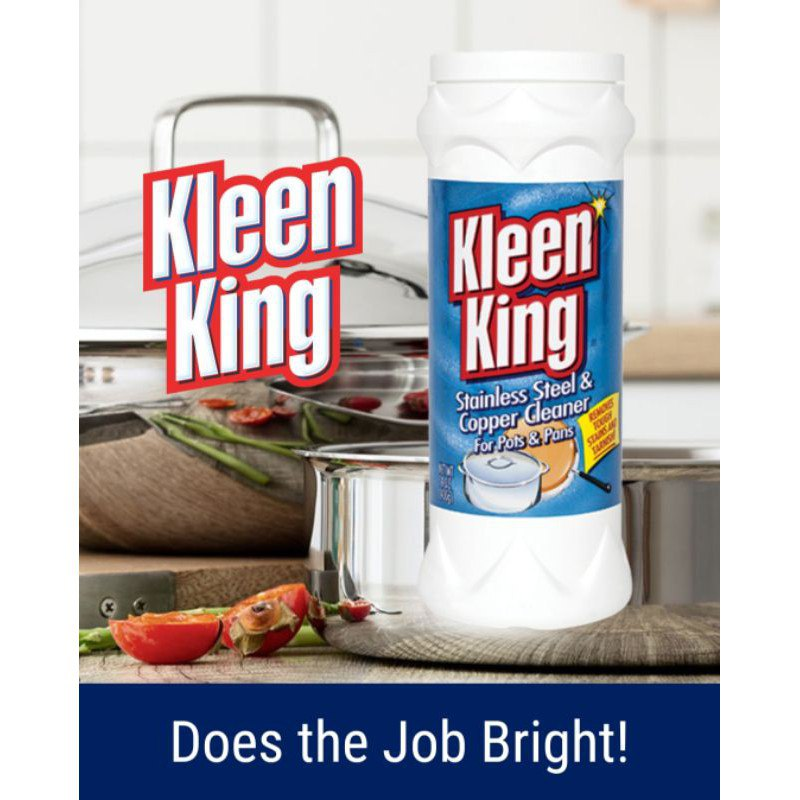 [READY STOCK] Kleen King Stainless Steel & Copper Cleaner Powder for Pots and Pans