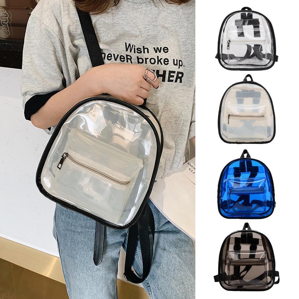 72685bc97beb 2019 new transparent female bag shoulder messenger bag