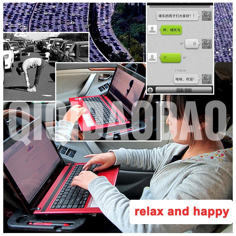 Interior Accessories Car Laptop Stand Notebook Desk Steering Wheel Tray Table Food/drink Holder Car Automobiles & Motorcycles