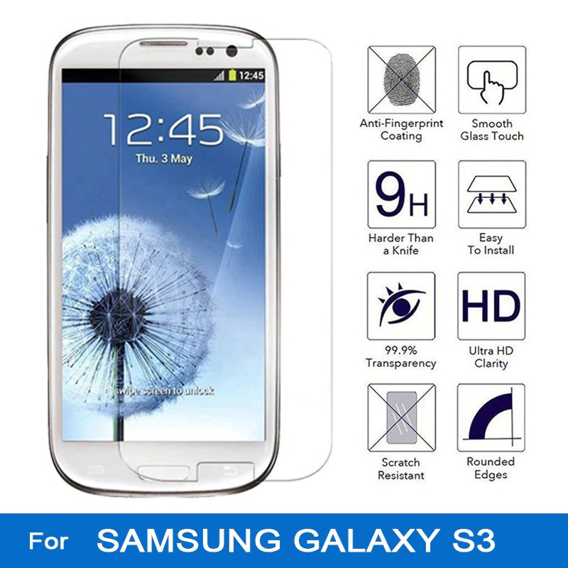 (Normal) Samsung Note 1 / 3 / 4 / 5 G313 C9 pro S9 plus S3 S4 Clear Tempered Glass TINTED