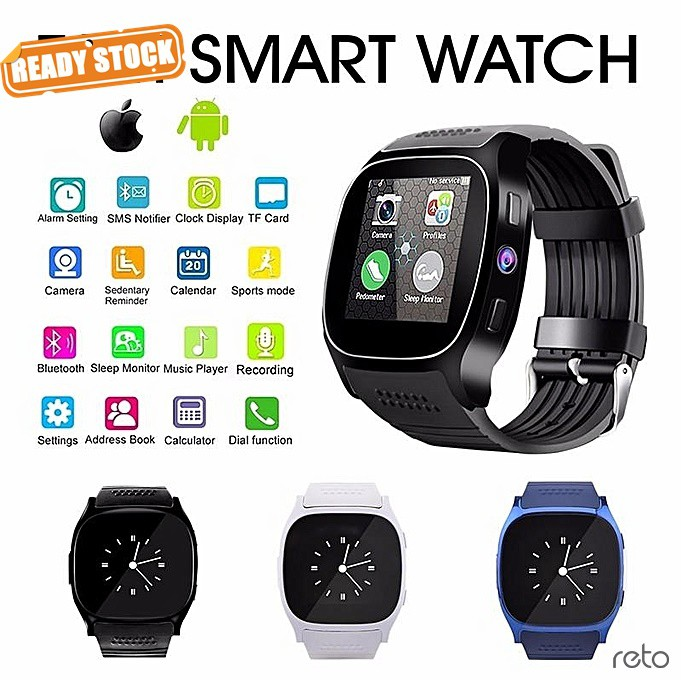 T8 Smart Watch Pedometer Fitness Band for iPhone Samsung QMTL, Message,  Answer Call, Sleep Tracker, Call Reminder