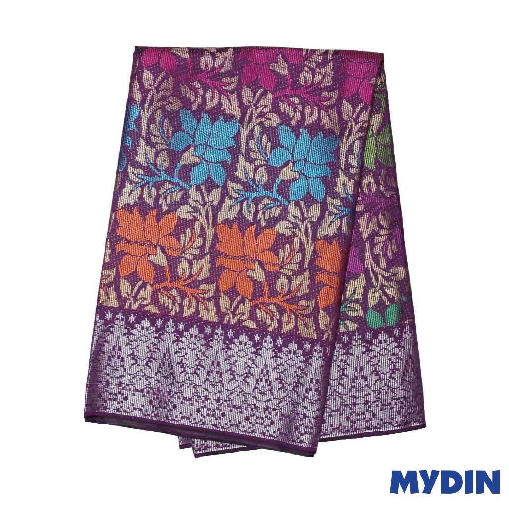 "Men Sampin - (F) Multicolor On Purple with Kemboja Designs (2.25m X 36"") 0819SRLHDD03 #Raya"