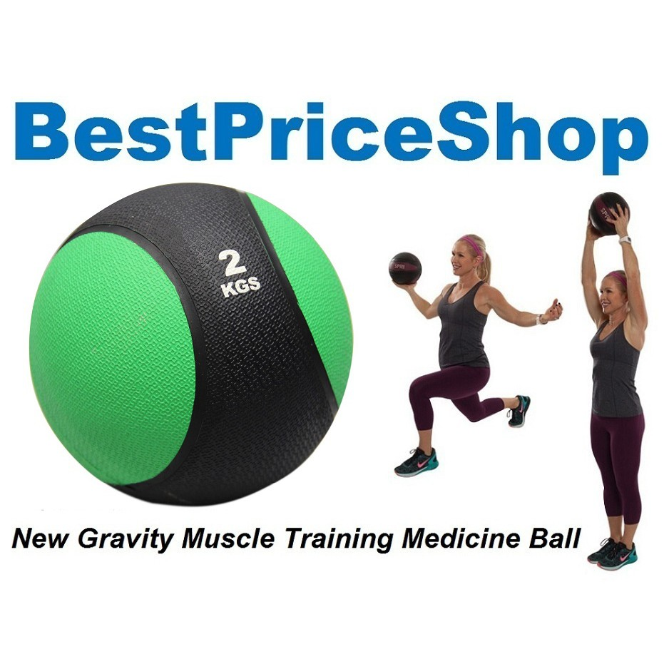 1kg Gym Grade Rubber Gravity Bounce Medicine Ball Muscle Exercise Grip 10kg Fitness Balls Shopee Malaysia