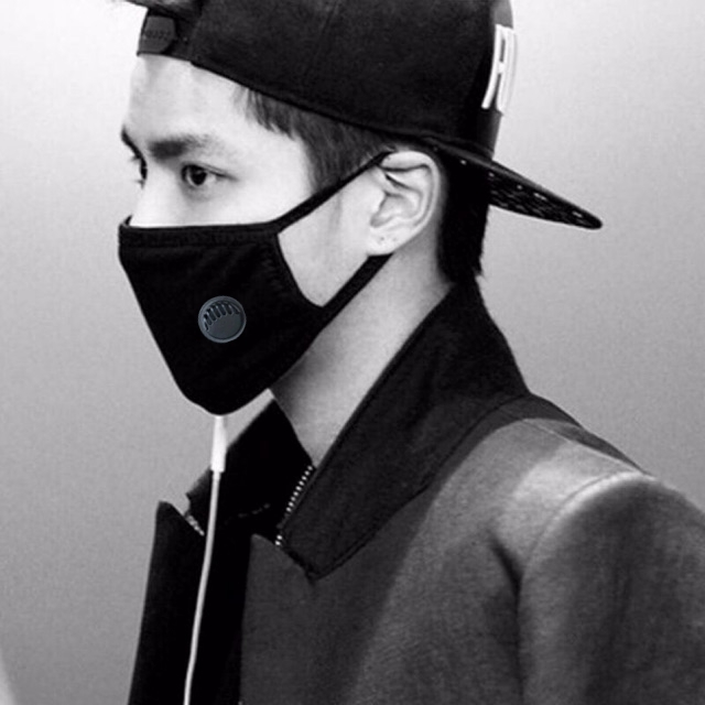 surgical face mask black