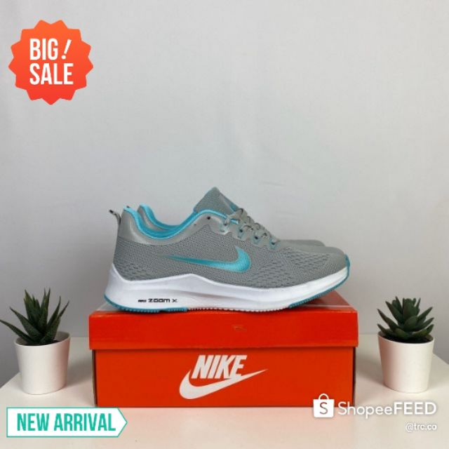 💥READY STOCK💥NIKE ZOOM X RUNNING SHOES WOMEN (GREY TURQUOISE) - 36-40 EURO