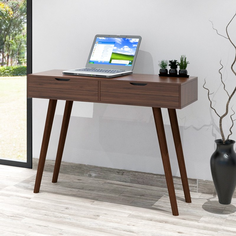 Furniture Direct LUCERN 4 feet console table/ study desk with 2 drawers/ study table