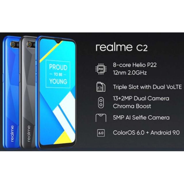 New Realme C2 (3GB + 32GB) Original warranty by Realme Malaysia