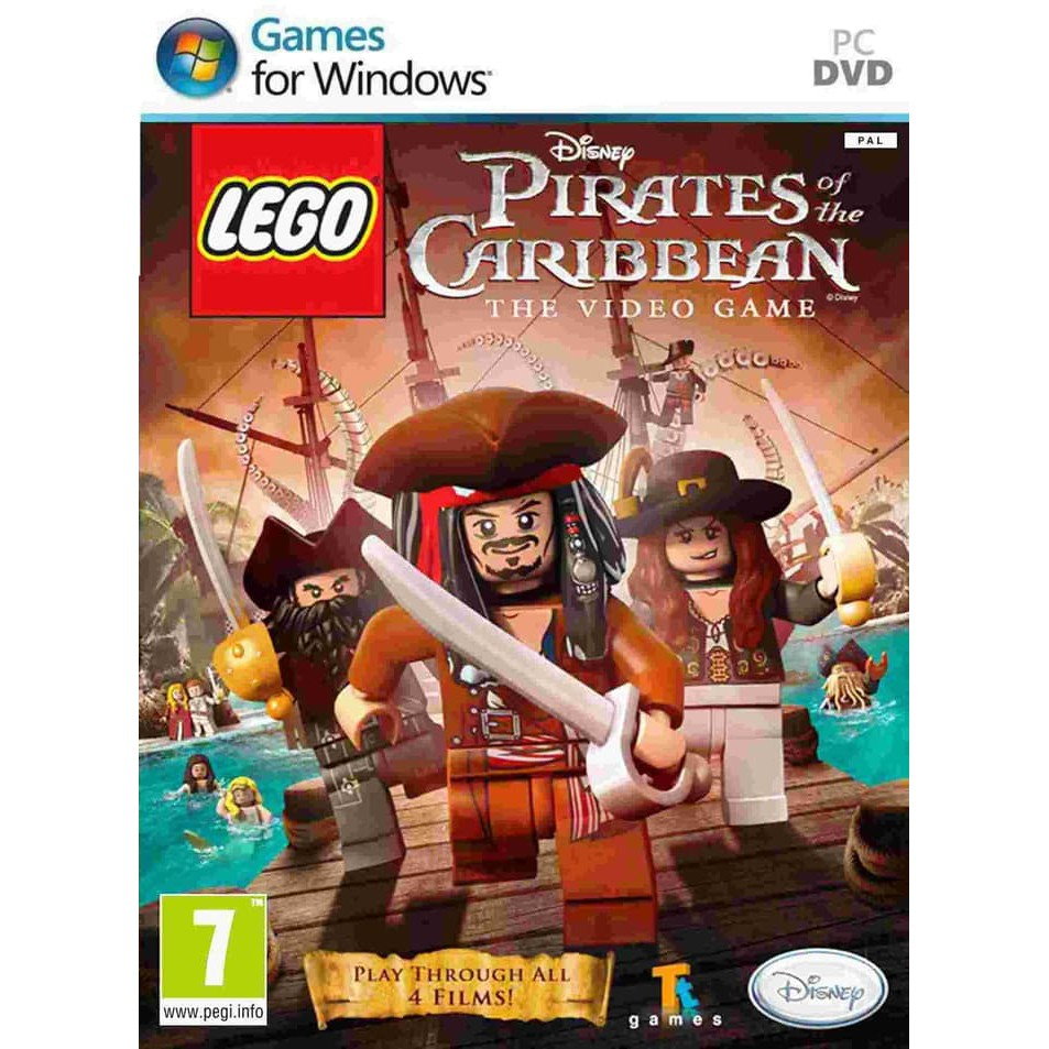 PC DVD OFFLINE Lego Pirates Of The Caribbean The Video Game (2DVD)
