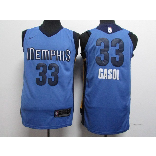 new product 55490 adb46 Nike NBA Memphis Grizzlies Marc Gasol #33 blue basketball jersey S-XXL