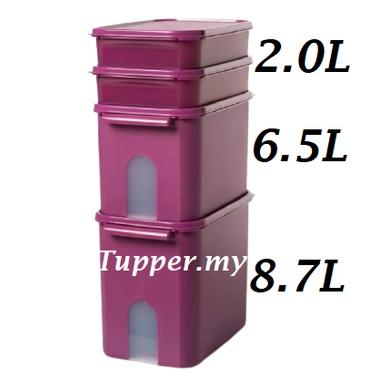 **Tupperware Window Treasure Keeper MM Modular Mates Rectangular Royale Purple Level Raya Set