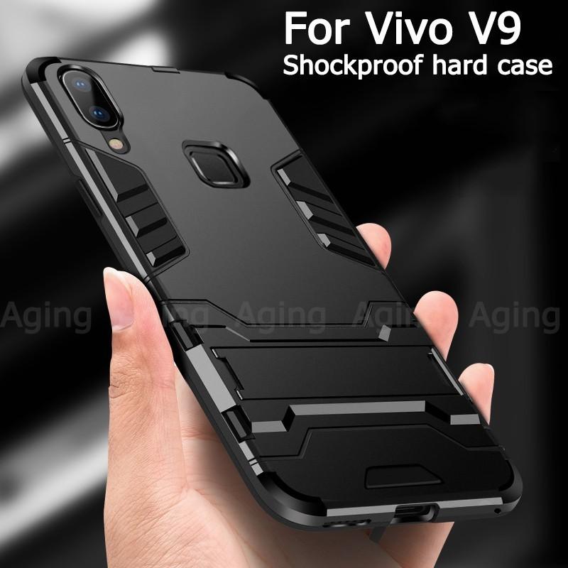 finest selection 29526 85634 Vivo V9 Y85 Case Rugged Amor Shockproof Full Back Protection Hard Cover