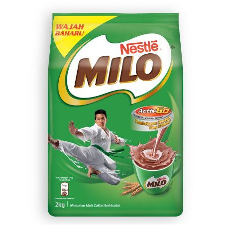 Image result for NESTLÉ MILO ACTIV-GO CHOCOLATE MALT POWDER Soft Pack 2kg