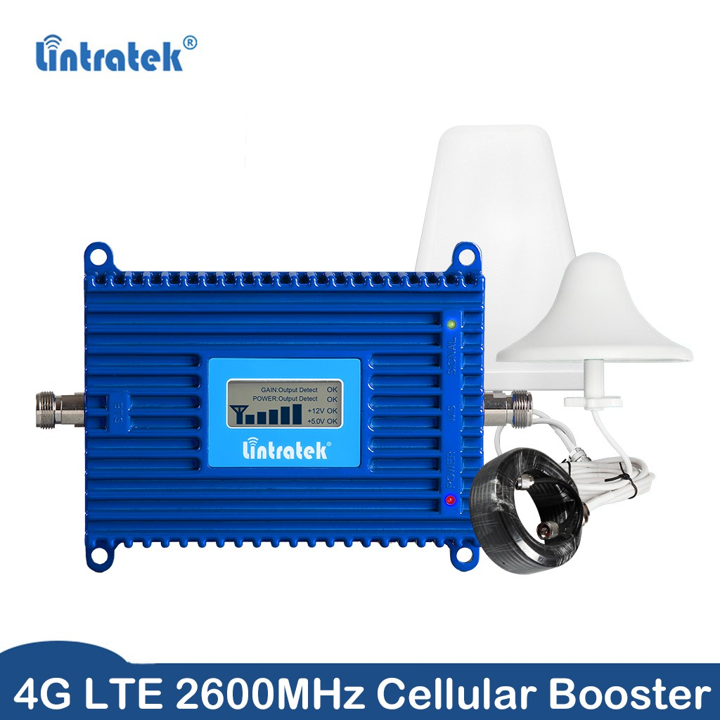 NEW RELEASE 4G LTE 2600MHz Signal Booster Repeater + Ceiling/Log Antenna
