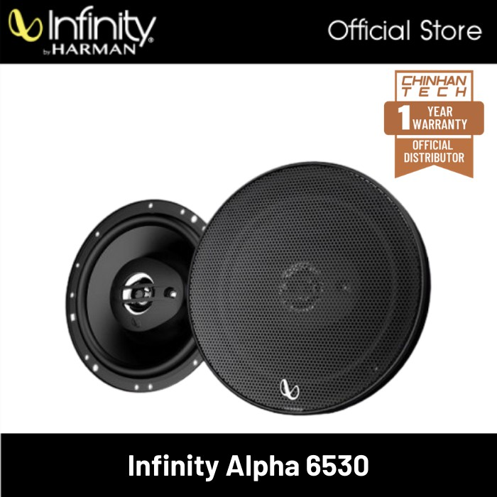 Infinity Alpha 6530 6.5 inch (16.5 cm) Three-Way Coaxial Car Speaker Peak Power 290W