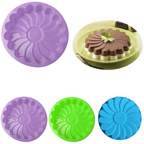 New Silicone Jelly Flower Chocolate Large Cake Mold Candy Baking Pan Soap  Mould
