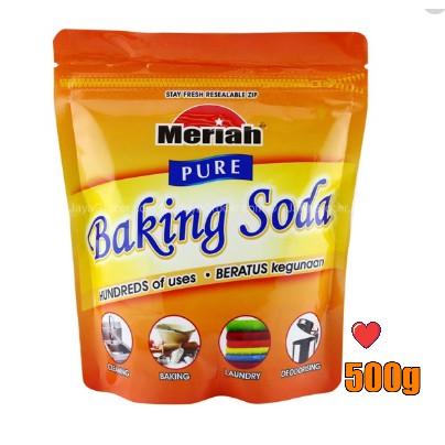 Meriah PURE Baking Soda 500g ( Free Fragile + Bubblewrap Packing )