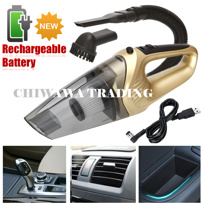 【Rechargeable Battery】Wireless Cordless Car Wet Dry Vacuum Cleaner Wet Dry Dust Collector Suction / Penyedut Habuk