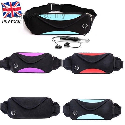 Unisex Waist Belt Bum Bag Jogging Running Travel Nylon Keys Mobile Money Bag UK
