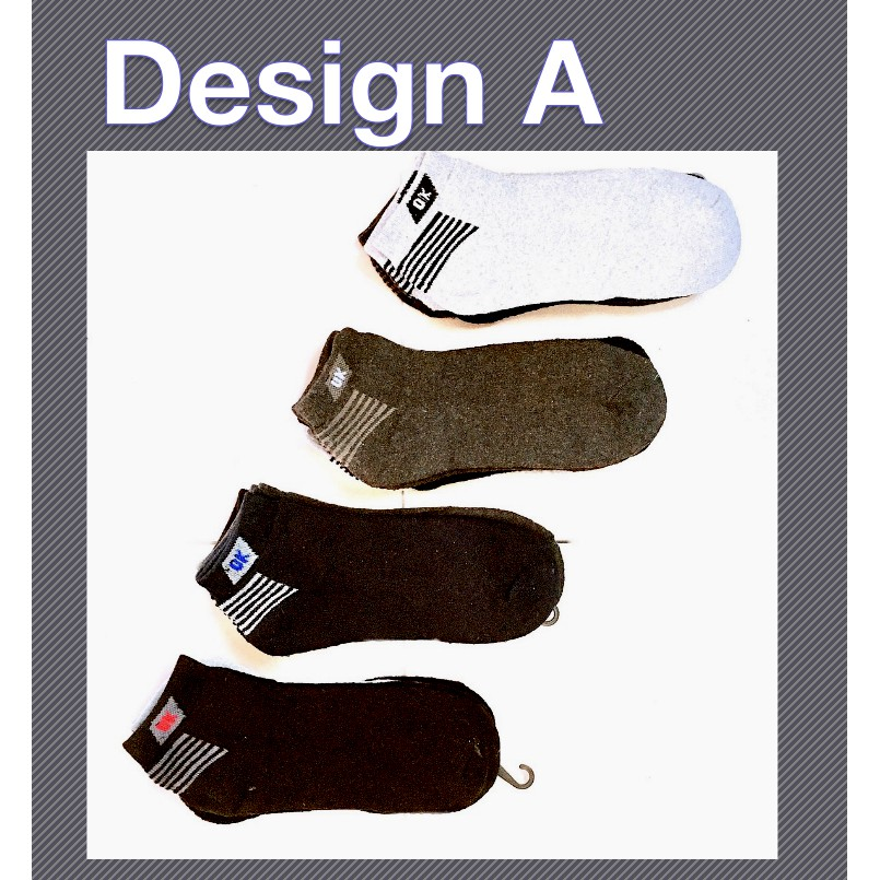 Sports Short Thick Comfortable Casual Unisex Cotton Low Cut Socks Thunder and Ok Design