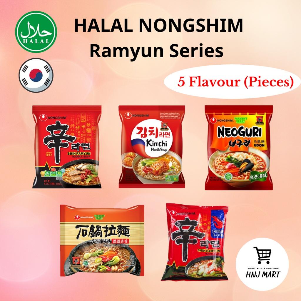 Halal Nongshim Ramen Ramyun Series [Original/Kimchi/Shrimp/Neoguri Udon/ Claypot Ramyun]