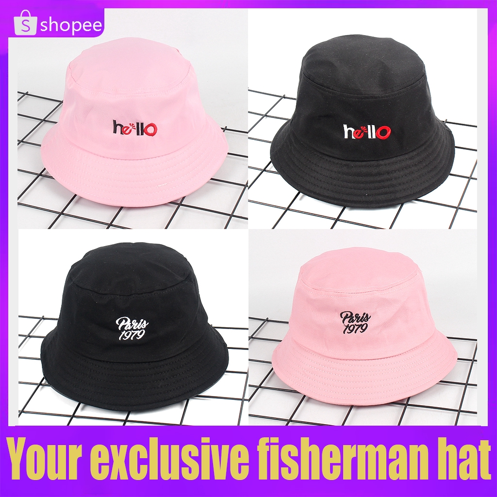 008d82987c2 ❤Discount❤ Embroidery Casual Fisherman Hat Sun Hat Camping Travel Outdoor  Hat