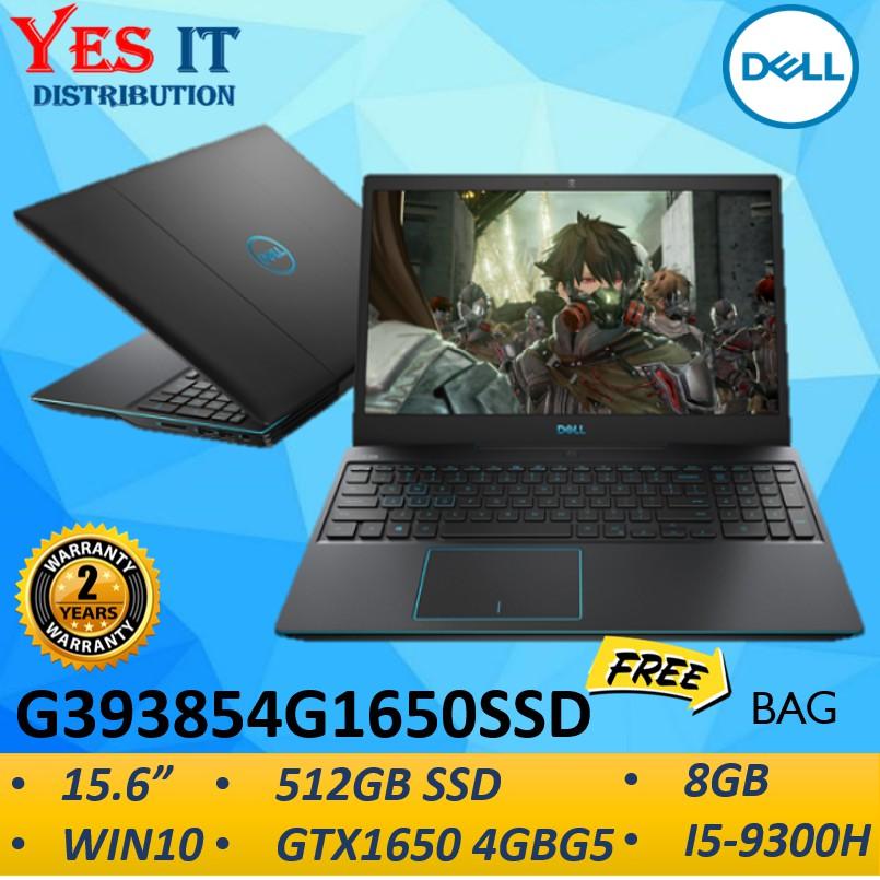 Dell G3 15 6 G393854g1650ssd Gaming Laptop Notebook Black I5 9300h 8gb 512gb Ssd 15 6 Fhd 4gb Gtx 1650 W10 2yw Shopee Malaysia