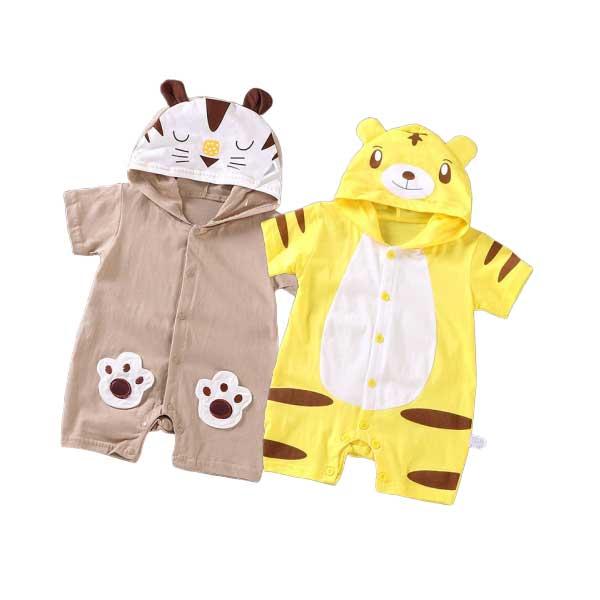 [พร้อมส่ง ของถึงไทยเเล้ว]ส่งจากจังหวัดกรุงเทพม🎉เสื้อผ้าเด็กแรกเกิดบอดี้สูท ชุดหมี เสื้อผ้าเด็กอ่อน ฝ้ายคุณภาพสูงนุ่มสบาย รูปแบบการ์ตูน