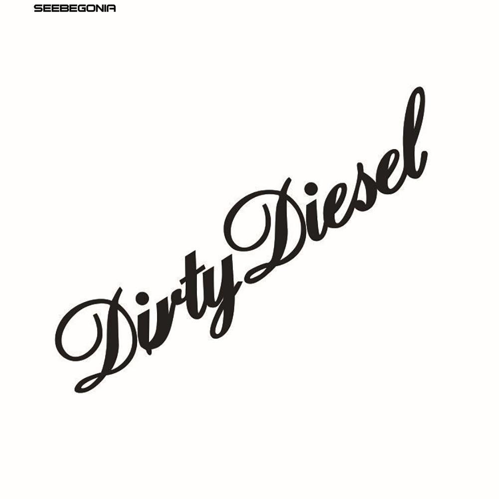 DIRTY DIESEL Car Window Wall Sticker Decal Laptop Glass Truck Vinyl Decor Fresh