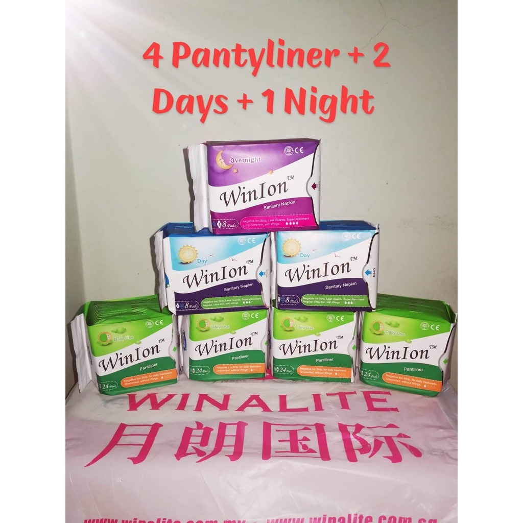 Winion Sanitary Napkin 1 Pack Day 2 Pantyliner Shopee Avail Pad Pantiliner Malaysia