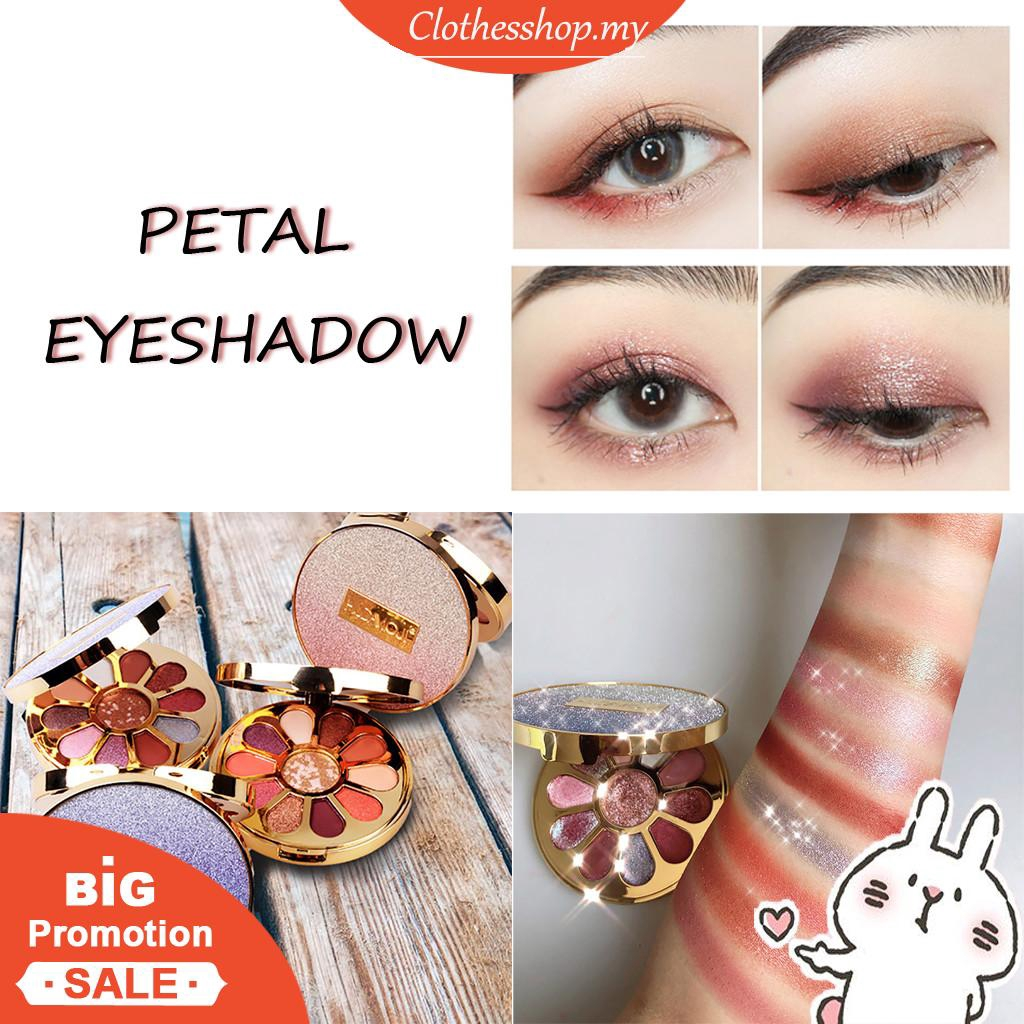 Portable Petal 11 Color Eye Shadow Dish Euramerican Eye Shadow