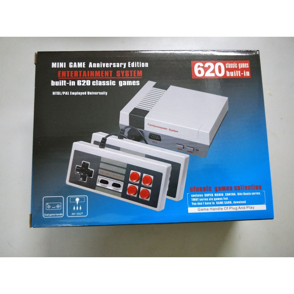 Mini NES TV game console upgrade version 8 European and American version FC  red