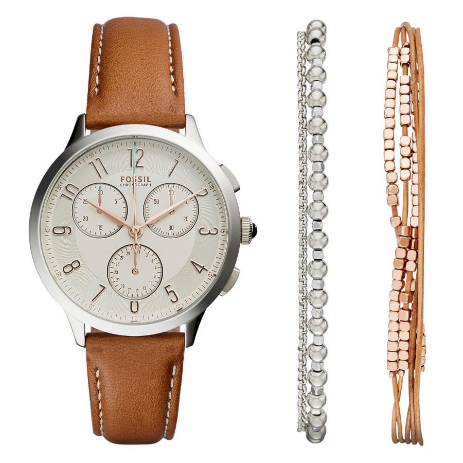 Fossil Es3837 Womens Original Boyfriend Chronograph Leather Watch Es3908 Jam Tangan Wanita Shopee Malaysia