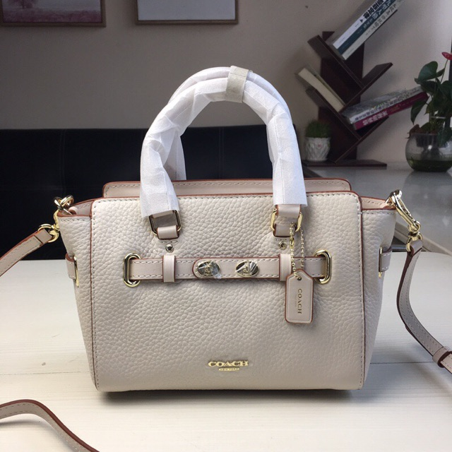 2d0e6b865 ProductImage. Coach Mini Blake Carryall in Bubble Leather F37635 White  Crossbody Bag Swagger