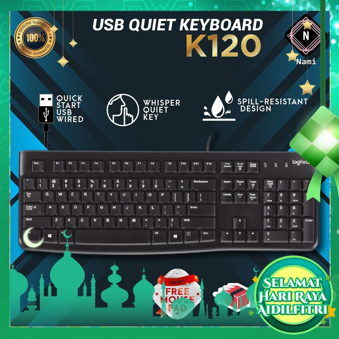 Logitech USB Keyboard K120 (EXTRA Protection + Fragile Sticker)