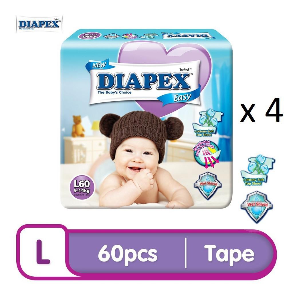 DIAPEX Easy Mega L (60pcs x 4)