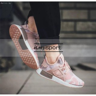 sports shoes bd690 c59a2 【ready stock】Original Adidas NMD XR1 Camo Women's Sneakers sport shoes pink