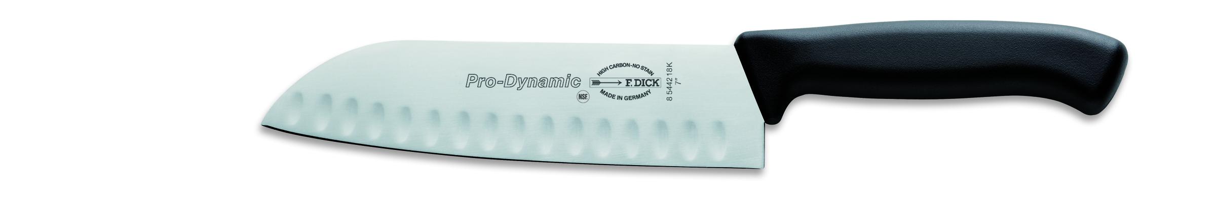F.DICK, Santoku Knife, 18cm (7''), Black Handle (ProDynamic)