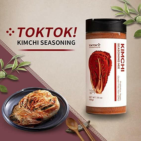 Korea TokTok Kimchi Seasoning Powder Mix 100g Perfect for Cooking, BBQ, Fried Chicken, Dumpling, Popcorn, Grilling
