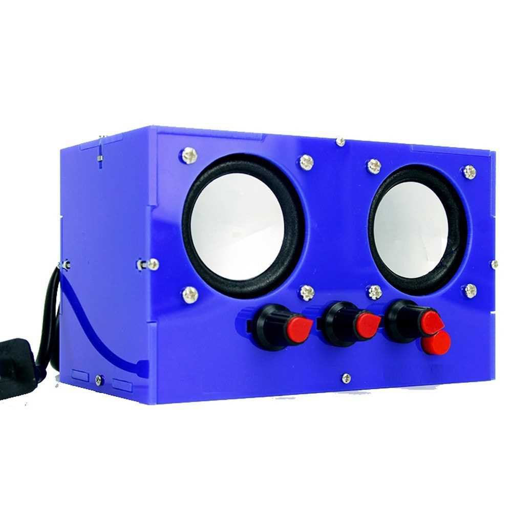 DIY TDA2030 Mini Amplifier Two Channel Speaker Audio Kit Electronic YD-2030 Assembly Active Audio Speaker (Blue)