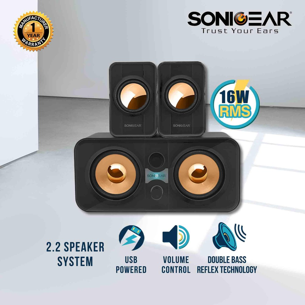Sonicgear Morro 2200 Ultra Bass Pc Speaker Black | Shopee Malaysia