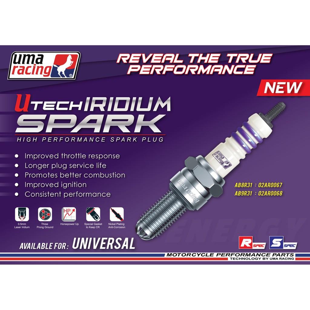 UMA RACING IRIDIUM SPARK PLUG (AB8R31/AB9R31)