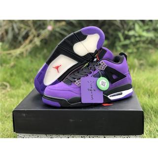 139edb74e304 Travis Scott x Air Jordan 4 Purple 2018 | Shopee Malaysia