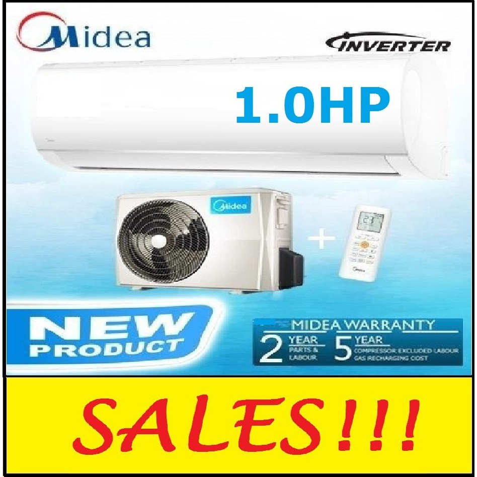 MIDEA 1.0HP (INVERTER) AIRCOND MSMA-09CRDN1 AIR CONDITIONER ENERGY SAVING AIR COND
