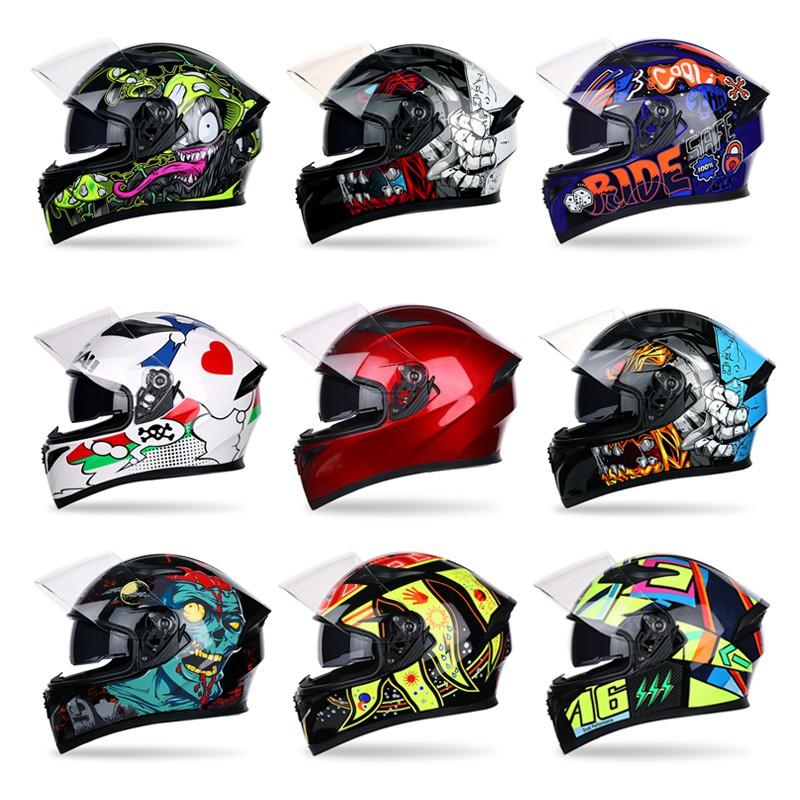 Full Face Motorcycle Helmet Motocross Racing Helmetman Woman Moto Anti Fog