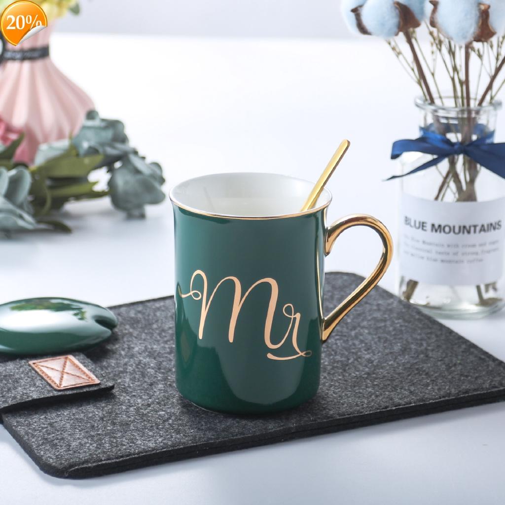 Design Diy Creative Home European Style Light As Gold Glaze Ceramic Cup Shopee Malaysia