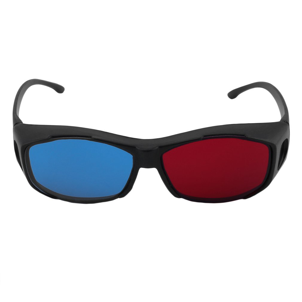 2pcs 3d Red Blue Red-blue Glasses Cyan Myopia General Vision Dimensional Anaglyph Eyewear Glass For Plasma Tv Game Stereo Movie 3d Glasses/ Virtual Reality Glasses Consumer Electronics