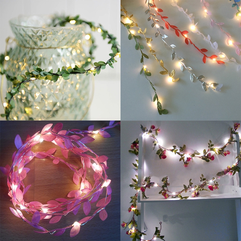 String Lights Wire Gift Decoration Fairy Leaves Led Party Outdoor Indoor Room Decor Festival Flower Lamp Wedding Latest Shopee Malaysia